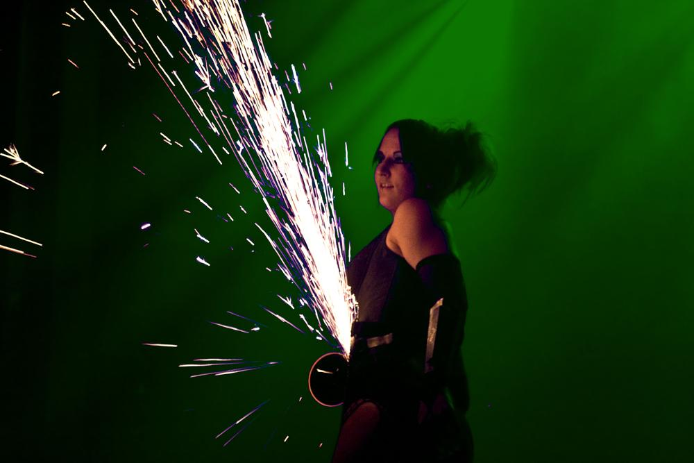 Massachusetts Saint Patrick's Day St. Paddy's Day Party Grinder Girl Connecticut Angle Grinder Performer Rhode Island Grinder Sparks Dancer New Hampshire Power Grinder Girl Show