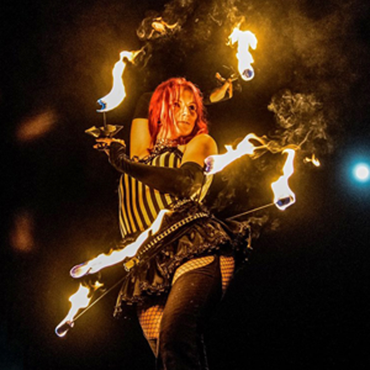 Circus Fire Hip Belt and Palm Torches Massachusetts Fire Dancer Fire Performer Fire Eater Fire Breather Connecticut Rhode Island