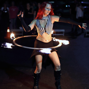 Fire Hula Hoop Performer FireGypsy Massachusetts Connecticut Rhode Island
