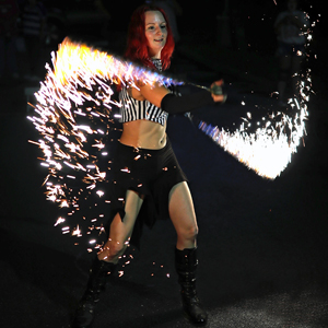 Fire Sparkles Ropes Snakes Performer Sklitter Pyrotechnic Metal Flakes Massachusetts Dancer