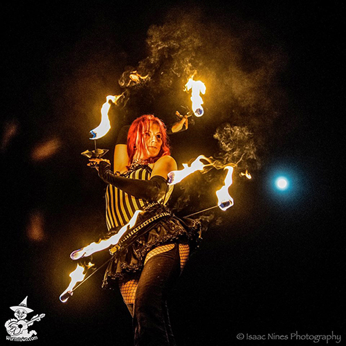 Circus Fire Hip Belt and Fire Palm Torches Fire Dancer Fire Performer Fire Show Fire Gypsy Massachusetts Connecticut Rhode Island Circus Cirque Act FireGypsy