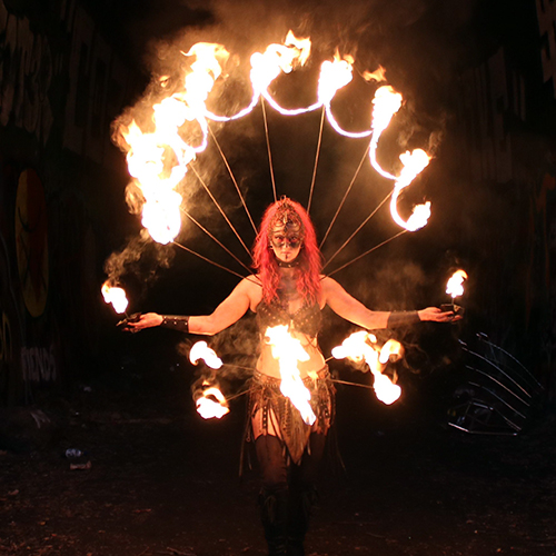 Custom Fire Collar Wasteland Weekend Mad Max Spiderweb Post Apocalyptic Costume Fire Performer Fire Belly Dancer Fire Eater Fire Breather Ideas DIY Tutorial Massachusetts CT RI Fire Gypsy FireGypsy