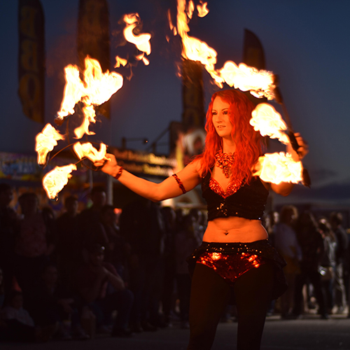 Fire Fans Dancer Fire Performer Massachusetts Flame Twirler Spinner Connecticut Rhode Island Spring Fest Fall Fest Fire Gypsy FireGypsy Sasha