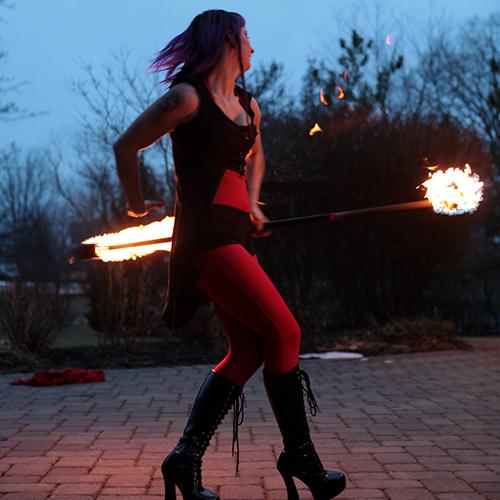 Fire Staff Performer Fire Dancer Circus Connecticut Rhode Island Massachusetts Fire Gypsy FireGypsy Sasha