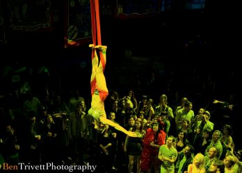 Aerial Hammock Sling Performer Circus Aerialist Coney Island Gala Webster Hall NYC