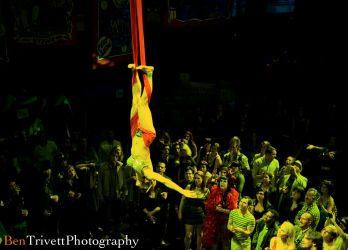 Aerial Hammock Sling Performer Circus Aerialist Coney Island Gala Webster Hall NYC