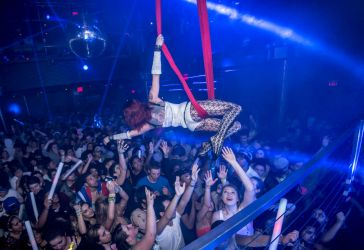 Aerial Hammock Sling Performer Circus Aerialist Nightclub Club Bar Performance New Hampshire