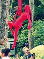 Aerial Hammock Sling Performer Circus Aerialist Street Faire Fair Festival Connecticut