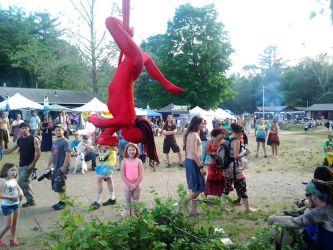 Aerial Hammock Sling Performer Circus Aerialist Street Faire Fair Festival Rhode Island