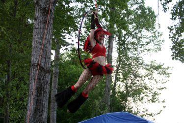 Aerial Lyra Hoop Performer Circus Aerialist Festival Faire Connecticut 1