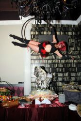 Aerial Lyra Hoop Performer Circus Aerialist Upscale Birthay Party Event Boston Massachusetts