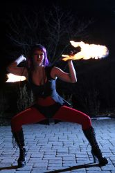 Boston Fire Dancer Circus Fire Poi Performer Fire Gypsy 1