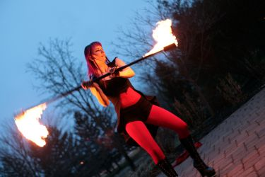 Boston Fire Staff Performer Fire Dancer Circus Massachusetts 1