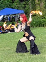 Brockton MA Fire Fans Dancer Circus Fire Performer