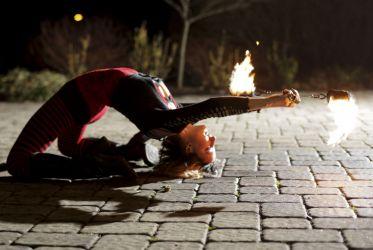 Connecticut Halloween Fire Poi Fire Dancer Sasha Fire Gypsy 1