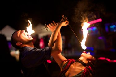 Duet Fire Eating 1