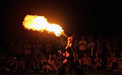 Fire Breathing Fire Performer Fire Dancer 1