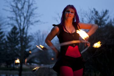 Fire Gypsy Fire Hula Hoop Performer Worcester MA 1
