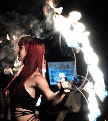 Fire Gypsy Sasha Fire Fans Dancer Massachusetts Fire Performer