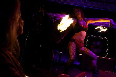 Fire Gypsy Sasha Fire Poi Performer Fire Dancer Dance MA 1