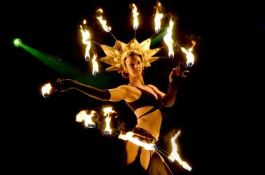 Fire Headdress Crown Headpiece Hip Belt Palm Torches Fire Dancer Pittsfield MA 1
