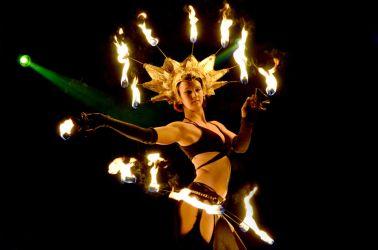 Fire Headdress Crown Headpiece Hip Belt Palm Torches Fire Dancer Pittsfield MA 1