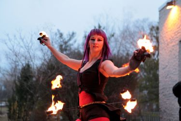 Fire Hip Belt Palm Torches Belly Dancer 1
