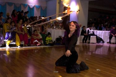 Fire Hula Hoop Dancer Fire Performer India Hindu Party 21 Birthday Massachusetts 1