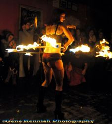 Fire Hula Hoop Dancer Fire Performer Times Scare NYC
