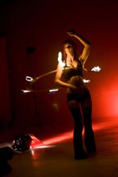 Fire Hula Hoop Dancer Fire Performer for Music Videos 1