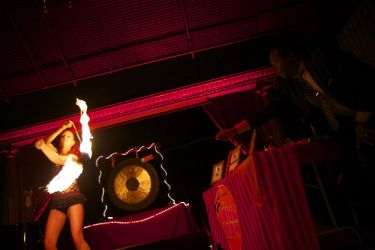 Fire Poi Dancer Fire Performer Gong Show Live NYC 1
