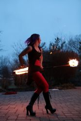 Fire Staff Performer Fire Dancer Circus Connecticut 1