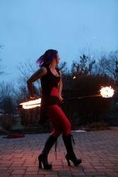 Fire Staff Performer Fire Dancer Circus Connecticut 1