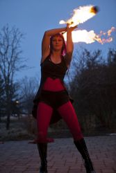 Fire Staff Performer Fire Dancer Circus Massachusetts 1