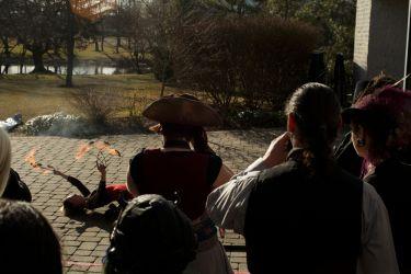 Halloween Massachusetts Fire Show Performance Fire Fans 1