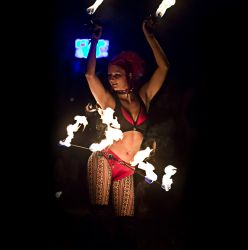 Hip Belt Palm Torches Fire Belly Dance Fire Performer Boston MA -