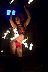 Hip Belt Palm Torches Fire Belly Dance Fire Performer Boston MA 1