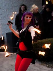 Hip Belt Palm Torches Fire Belly Dance Fire Performer Circus New Haven Connecticut