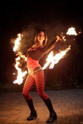 Hip Belt Palm Torches Fire Belly Dance Fire Performer Halloween Salem Spooky World MA