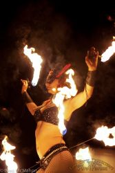 Hip Belt Palm Torches Fire Belly Dance Fire Performer New Hampshire 1