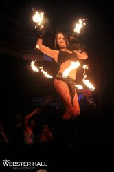 Hip Belt Palm Torches Fire Belly Dance Fire Performer Nightclub Providence RI
