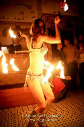 Hip Belt Palm Torches Fire Belly Dance Fire Performer Providence RI NYE