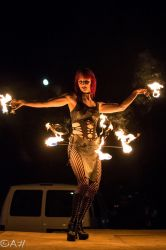 Hip Belt Palm Torches Fire Belly Dance Fire Performer Stage Concert Event Tribal Leather Massachusetts