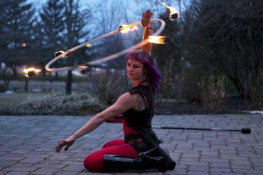 Massachusetts Circus Fire Hula Hoop Performer Fire Gypsy 1