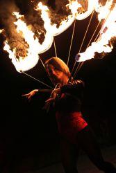 Massachusetts NH CT RI NY Halloween Fire Collar Fire Dancer Performer FireGypsy Spider Web 1