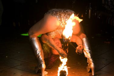 NYE New Year's Even Somersault Roll Fire Poi Dancer Fire Performer Massachusetts Fire Gypsy 1