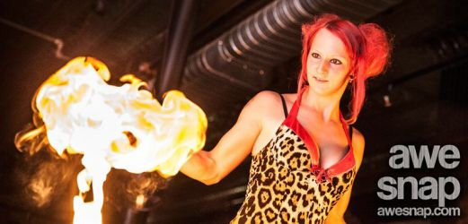 Pinup Burlesque Show Boston Worcester Fire Poi Dancer Fire Performer MA Fire Gypsy