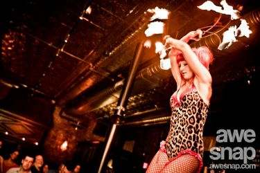 Professional Fire Fans Dancer Performer New England Pinup Burlesque