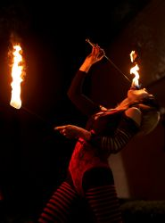 Providence Halloween Fire Eater Fire Performer 1