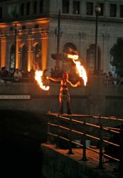 Providence Waterfire Fire Fans Dancer Fire Performer Rhode Island FireGypsy 1